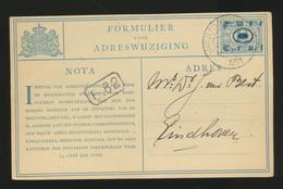 Adreswijziging 1921 - Entiers Postaux