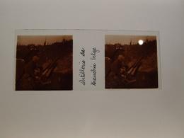 Photo Plaque De Verre Stéréoscopique Guerre 14-18 Artillerie De Tranchée Belge - Diapositiva Su Vetro