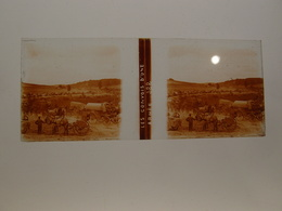 Photo Plaque De Verre Stéréoscopique Guerre 14-18 Poilus Les Convois D'une Armée - Diapositiva Su Vetro