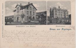 57 - ALGRANGE - 2 VUES - RESTAURANT DE LA GARE ET L'HOPITAL - France