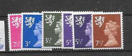 Yv. Type Au 627,31,713,635,716,639 * * - 1952-.... (Elizabeth II)