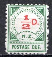 OCEANIE - Nelle ZELANDE - (Colonie Britannique) - 1900 - Taxe - N° 1 - 1/2 P. Vert Et Rouge (Type II B) - Timbres-taxe