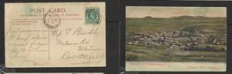 S. Africa,General View Of Burghersdorp C.C., Used 1/2d BURGHERSDORP  JU 27 11 > PORT ELIZABETH; J. Shorten (pub) - South Africa