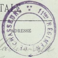 Cachet 11ème Régiment De Chasseurs Sur Carte Vesoul - Vue Sur Notre Dame De La Motte - Storia Postale