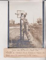 GRÈVE DES CHEMINS DE FER QUEST ETAT SAPEUR GÉNIE  MANOEUVRE A MAIN 18*13CM Maurice-Louis BRANGER PARÍS (1874-1950) - Trenes