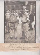 GRÈVE DES CHEMINS DE FER QUEST ETAT EMPLOYÉS MOBILISÉS ORDRE MINISTÉRIEL 18*13CM Maurice-Louis BRANGER PARÍS (1874-1950) - Trenes