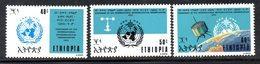 ETP179 - ETIOPIA 1973 ,  Yvert  N. 666/668 *** MNH  OMM - Ethiopia