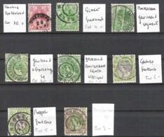 NEDERLAND Wilhemina Bontkraag Met Verschillende Stempels (grootrond-kleinrond-gearceerd Segment) - Poststempels/ Marcofilie