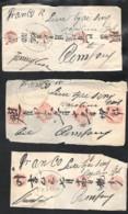 DUTCH INDIES 7 (fragments Of ) Letters About 1830 With SAMARANG FRANCO - Nederlands-Indië