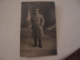 CPA Photo Militaria 14-18 Poilus En Tenue Avec Décorations - Guerra 1914-18