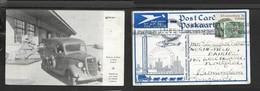 S. Africa, Van & Plane, Rand Airport, 1/2d, EMPIRE EXHIBITION JOHANNESBURG 16 I 37 > Scotland - South Africa