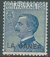 1907-12 LEVANTE LA CANEA EFFIGIE 25 CENT MNH ** - RA19 - 11. Oficina De Extranjeros