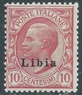1912-15 LIBIA EFFIGIE 10 CENT MNH ** - RA19 - Libya