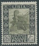1921 LIBIA PITTORICA 50 CENT MNH ** - RA21-7 - Libyen