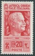 1938 AFRICA ORIENTALE ITALIANA SOGGETTI VARI 20 CENT MH * - RA15-4 - Africa Oriental Italiana