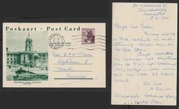 S. Africa, 2d Postal Card, Zebra, Union Buildings Pretoria, Used  CAPETOWN 9 III 1960 > Bellville - Sud Africa (...-1961)