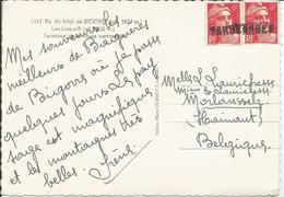 N° 721(paire) Sur Carte : Oblitération Par Griffe Linéaire : TARBES - Marcophilie (Lettres)