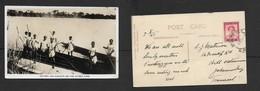 Rhodesia Natives & Dug Outs On The Zambesi River, Used 1d BULAWAYO 7 AU 47> Johannesburg - Zimbabwe