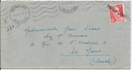 1948 - N° 721 Seul Sur Lettre : Oblitération Par Griffe Linéaire : PARIS-GARE - Marcophilie (Lettres)