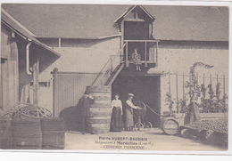 Cpa (top)-35-mordelles-pas Sur Delc.-cidrerie Moderne-negociant Pierre Hubert Baudais-personnages-edi Mary Rousseliere - France