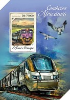 Sao Tome And Principe, 2013. [st13607] Trains (s\s+m\s) - Trains