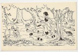 9 - 23 Cartes De Blanche Neige Non Colorisée - Contes, Fables & Légendes
