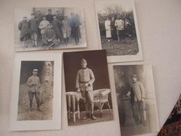 Lot (4) De 5 CPA Photo Militaria 14-18 Poilus - Guerre 1914-18