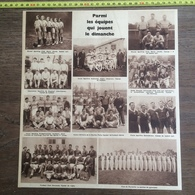 1935 M EQUIPES FOOTBALL RHONEL MARLY BASKET BALL BUJALEUF PUISSALICON AUBIN MARSEILLE - Collections