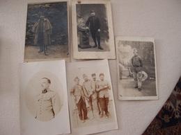 Lot (6) De 5 CPA Photo Militaria 14-18 Poilus - Guerre 1914-18
