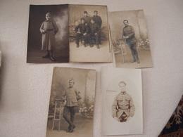 Lot (7) De 5 CPA Photo Militaria 14-18 Poilus - Guerre 1914-18