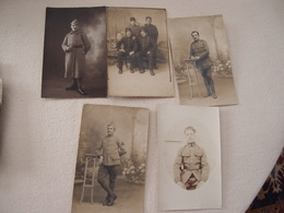 Lot (7) De 5 CPA Photo Militaria 14-18 Poilus - War 1914-18