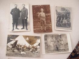 Lot (9) De 5 CPA Photo Militaria 14-18 Poilus - Guerre 1914-18