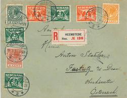 Heemstede 1927 R-Brief Nach Feistritz - Lettres & Documents