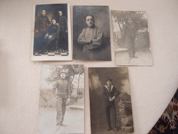 Lot (10) De 5 CPA Photo Militaria 14-18 Poilus - War 1914-18