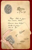 ** MENU  DECORE  17  MAI  1904 ** - Menükarten