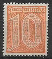 GERMANIA REICH IMPERO 1920  FRANCOBOLLI DI SERVIZIO TIPI CON GRANDE CIFRA SENZA NUMERO UNIF.18 MLH VF - Servizio