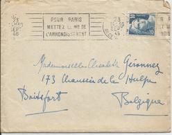 1946 - N° 726  SEUL Sur Lettre Vers La Belgique  23/09/1946 - AVEC CONTENU - Lettres & Documents