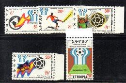 ETP239 - ETIOPIA 1978 ,  Yvert  N. 889/893*** MNH  Calcio Argentina - Ethiopia