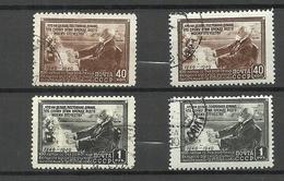 RUSSLAND RUSSIA 1949/56 Michel 1381 - 1382 Types I & II O - 1923-1991 URSS
