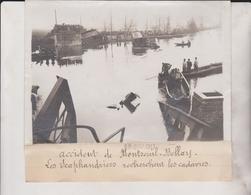 Accident A Montreuil Bellay SCAPHANDRIERS CADAVRES CHEMINS DE FER 18*13CM Maurice-Louis BRANGER PARÍS (1874-1950) - Trenes