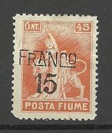 FIUME 1919 Michel 73 (*) - 8. Besetzung 1. WK