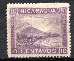 NICARAGUA - 1900 - N° 127 - 10 C. Violet - (Volcan Momotombo) - Nicaragua