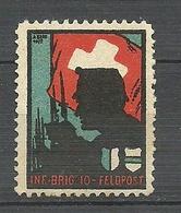 SCHWEIZ Switzerland Soldatenmarke Military Inf. Brig. 10 Feldpost Field Post Unused Ungebraucht - Soldaten Briefmarken