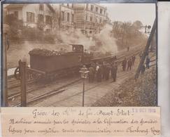 GRÈVE DES CHEMINS DE FER QUEST ETAT CHERBOURG ROUEN BIFURCATION 18*13CM Maurice-Louis BRANGER PARÍS (1874-1950) - Trenes