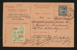 Carte-récépissé  Ontvangkaart 1934 - Entiers Postaux