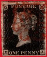 GBR SC #1 U 1840 Queen Victoria (M,J)  4-margins CV $320.00 - 1840-1901 (Victoria)