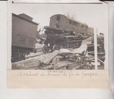ACCIDENT DE CHEMIN DE FER DE GARGAN SEINE SAINT DENIS 18*13CM Maurice-Louis BRANGER PARÍS (1874-1950) - Trenes