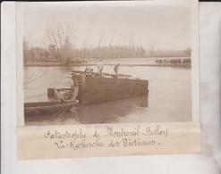 CATASTROPHE CHEMIN DE FER MONTREUIL BELLAY RECHERCHE VICTIMES  18*13CM Maurice-Louis BRANGER PARÍS (1874-1950) - Trenes