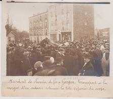 ACCIDENT CHEMIN DE FER A GARGAN MORGUE CADAVRE  18*13CM Maurice-Louis BRANGER PARÍS (1874-1950) - Trenes
