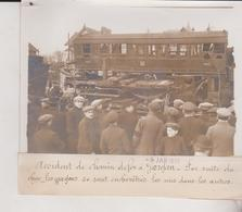 ACCIDENT DE CHEMIN DE FER A GARGAN 1912  18*13CM Maurice-Louis BRANGER PARÍS (1874-1950) - Trenes